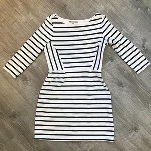 GAP Boat Neck Striped Dress